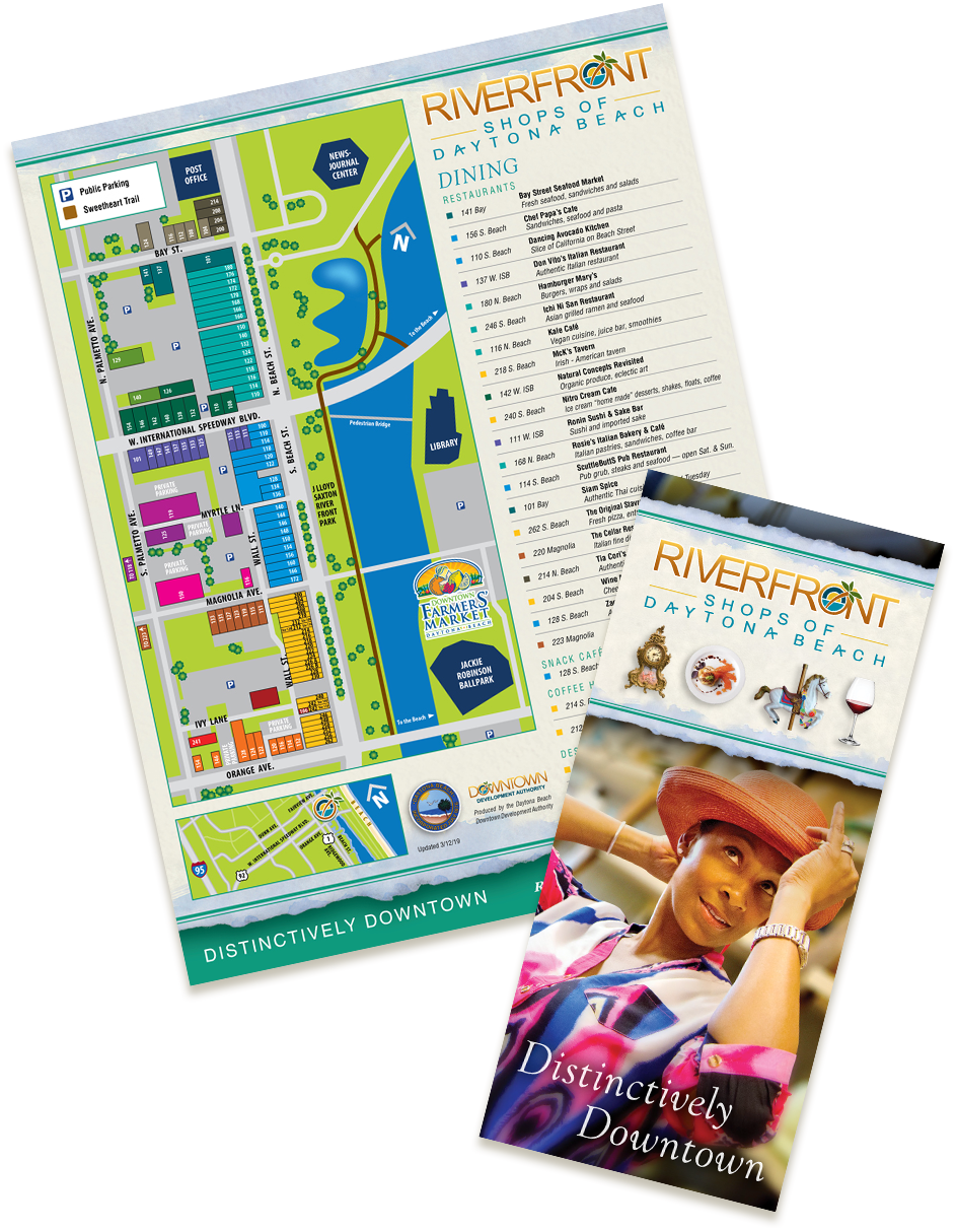 Riverfront Shops Brochure and Map